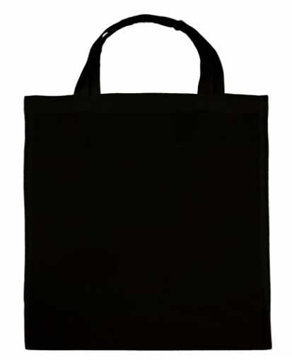 schwarze baumwolltasche