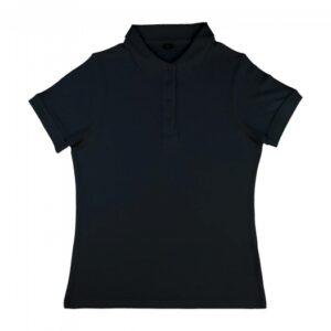 Grace – Women's Viscose-Cotton Pique-Polo_black
