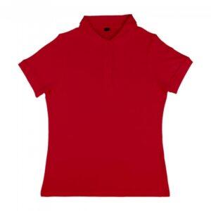 Grace – Women's Viscose-Cotton Pique-Polo_red
