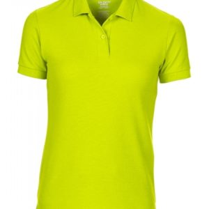 DryBlend Ladies Double Piqué Polo_safety-green