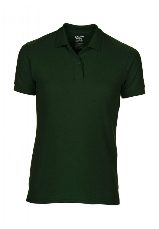 DryBlend Ladies Double Piqué Polo_forest-green