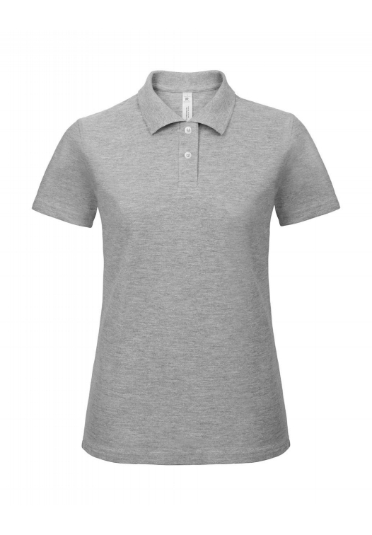 Ladies' Piqué Polo Shirt PWI11_heather-grey