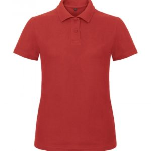 Ladies' Piqué Polo Shirt PWI11_red