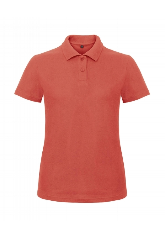 Ladies' Piqué Polo Shirt PWI11_pixel-coral