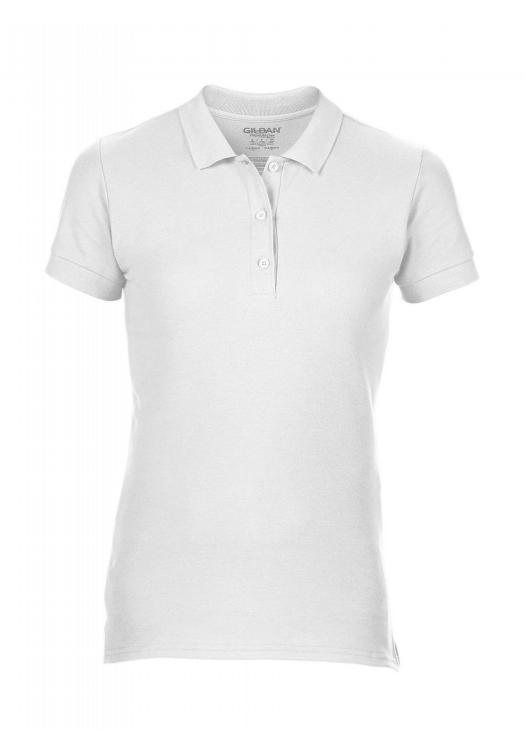 Premium Cotton Ladies' Double Piqué Polo_white