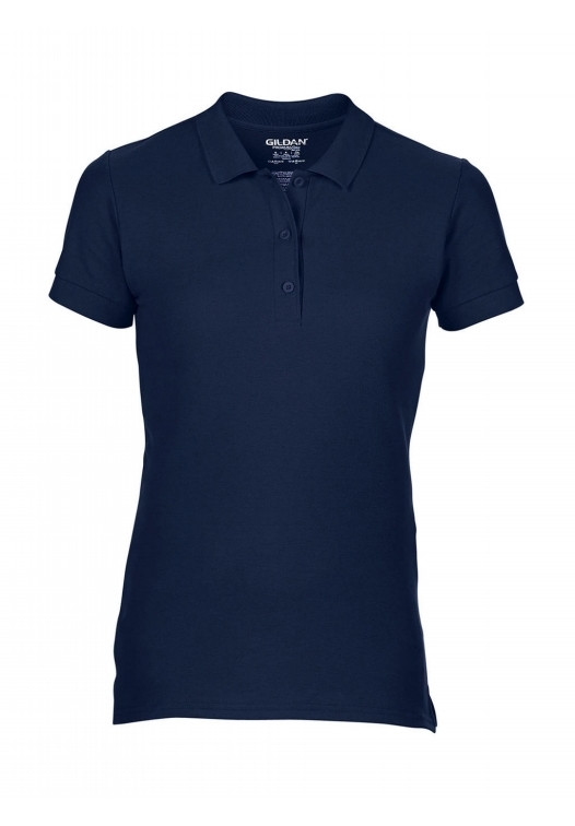 Premium Cotton Ladies' Double Piqué Polo_navy