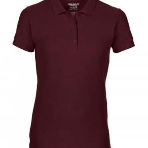 Premium Cotton Ladies' Double Piqué Polo_Maroon