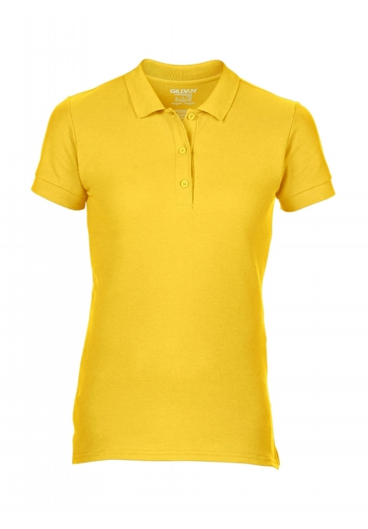 Premium Cotton Ladies' Double Piqué Polo_daisy-yellow