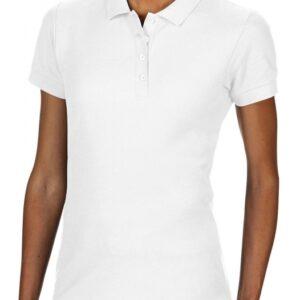 Softstyle Ladies Double Pique Polo_white