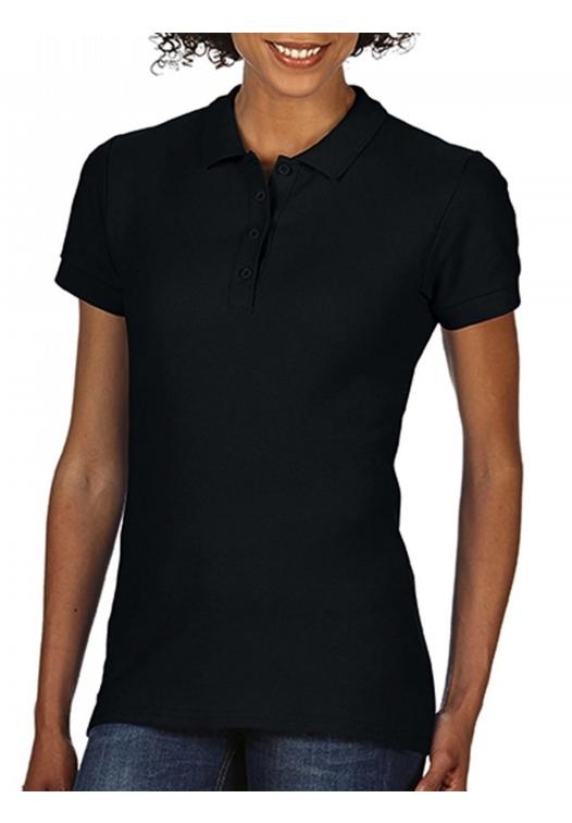 Softstyle Ladies Double Pique Polo_black