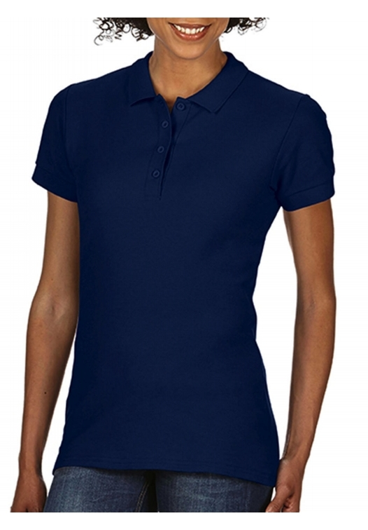 Softstyle Ladies Double Pique Polo_navy