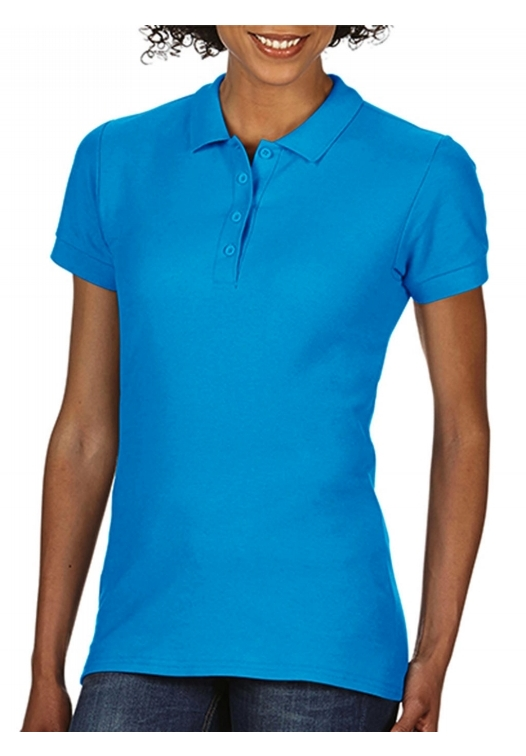 Softstyle Ladies Double Pique Polo_sapphire