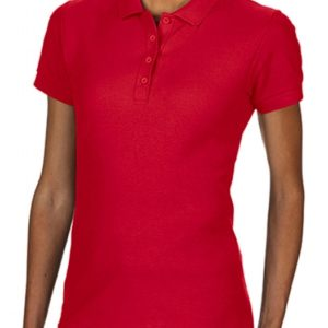 Softstyle Ladies Double Pique Polo_red