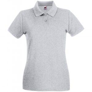 Premium Polo Lady-Fit_heather-grey