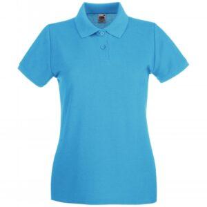 Premium Polo Lady-Fit_azure-blue