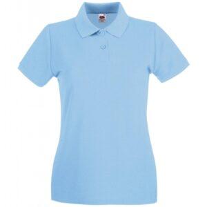 Premium Polo Lady-Fit_sky-blue