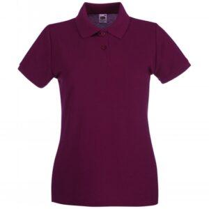 Premium Polo Lady-Fit_burgundy