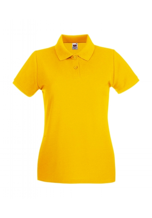 Premium Polo Lady-Fit_sunflower