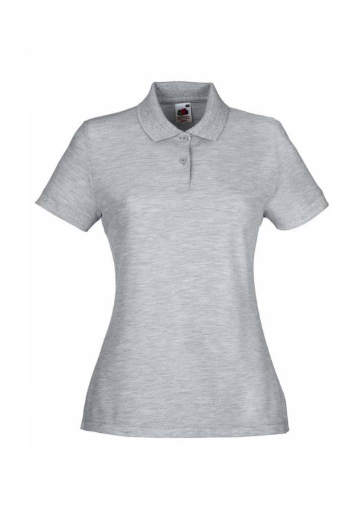 Polo Lady-Fit_heather-grey