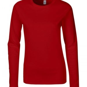 Ladies Softstyle T-Shirt LS_red