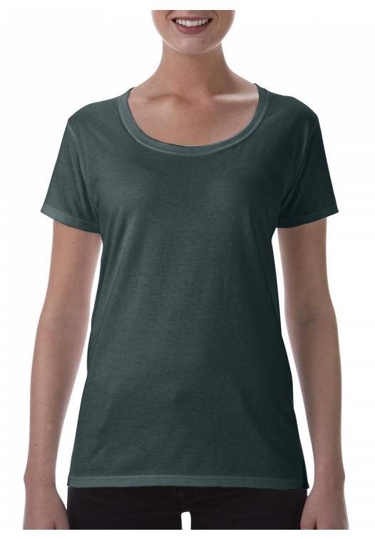 Softstyle Ladies Deep Scoop T-Shirt_dark-heather