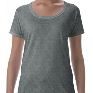 Softstyle Ladies Deep Scoop T-Shirt_heather-graphite