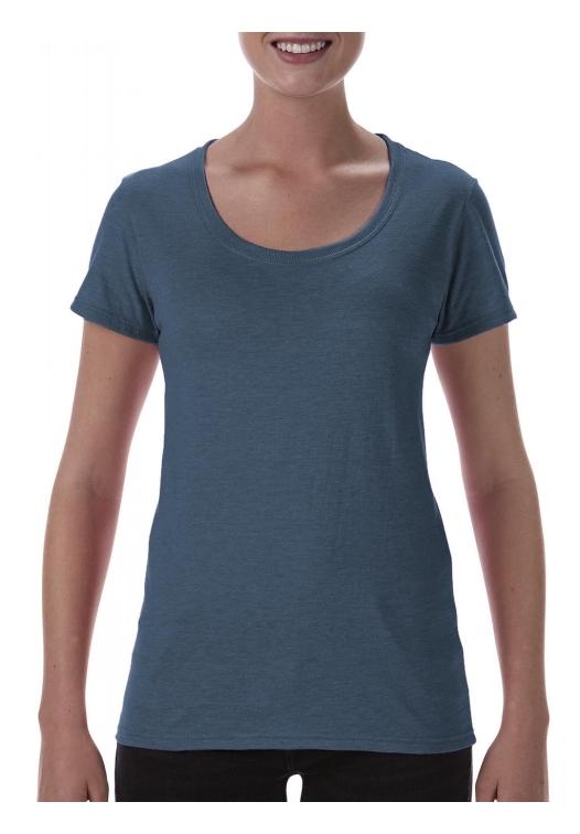 Softstyle Ladies Deep Scoop T-Shirt_heather-navy