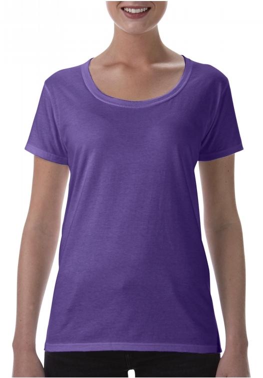 Softstyle Ladies Deep Scoop T-Shirt_heather-purple