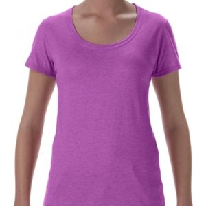 Softstyle Ladies Deep Scoop T-Shirt_heather-radiant-orchid