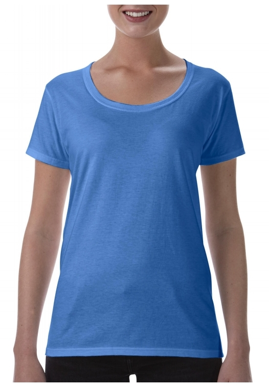 Softstyle Ladies Deep Scoop T-Shirt_heather-royal