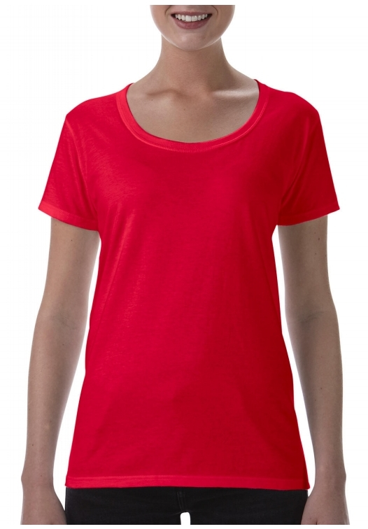 Softstyle Ladies Deep Scoop T-Shirt_red
