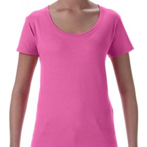 Softstyle Ladies Deep Scoop T-Shirt_azalea
