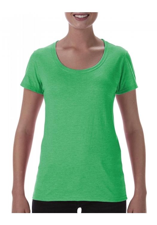 Softstyle Ladies Deep Scoop T-Shirt_heather-irish-green