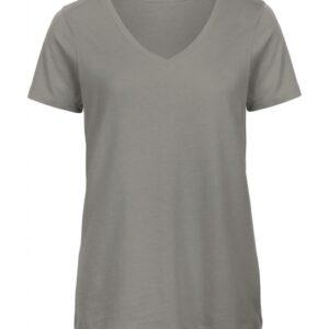 V-Neck T-Shirt Women – TW045_light-grey