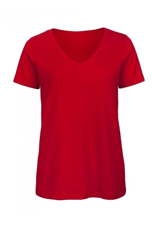 V-Neck T-Shirt Women – TW045_red