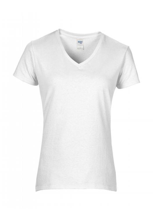 Premium Cotton Ladies V-Neck T-Shirt_white
