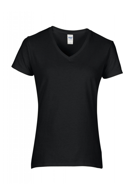 Premium Cotton Ladies V-Neck T-Shirt_black