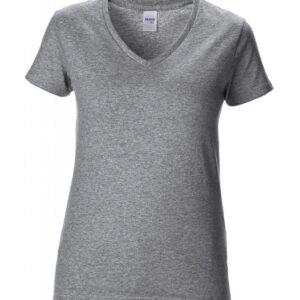 Premium Cotton Ladies V-Neck T-Shirt_sport-grey