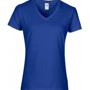 Premium Cotton Ladies V-Neck T-Shirt_royal