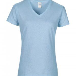Premium Cotton Ladies V-Neck T-Shirt_light-blue
