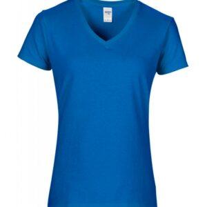 Premium Cotton Ladies V-Neck T-Shirt_Sapphire