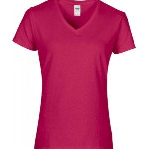 Premium Cotton Ladies V-Neck T-Shirt_helicona