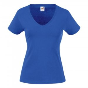 Valueweight V-Neck T Lady-Fit_royal