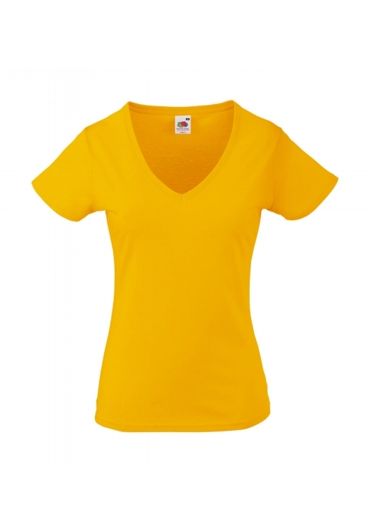 Valueweight V-Neck T Lady-Fit_sunflower