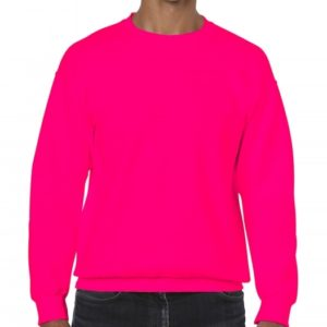 Heavy Blend Crewneck Sweat_safety-pink