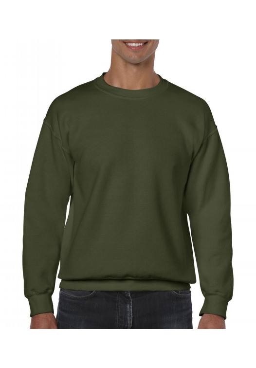 Heavy Blend Crewneck Sweat_military-green