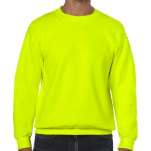 Heavy Blend Crewneck Sweat_safety-green