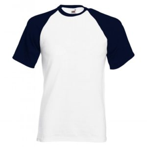 Baseball T-white-deep-navy