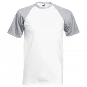 Baseball T-white-heather-grey