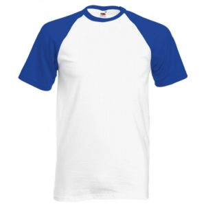 Baseball T-white-royal